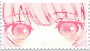 anime girl stamp by sinnamonstamps