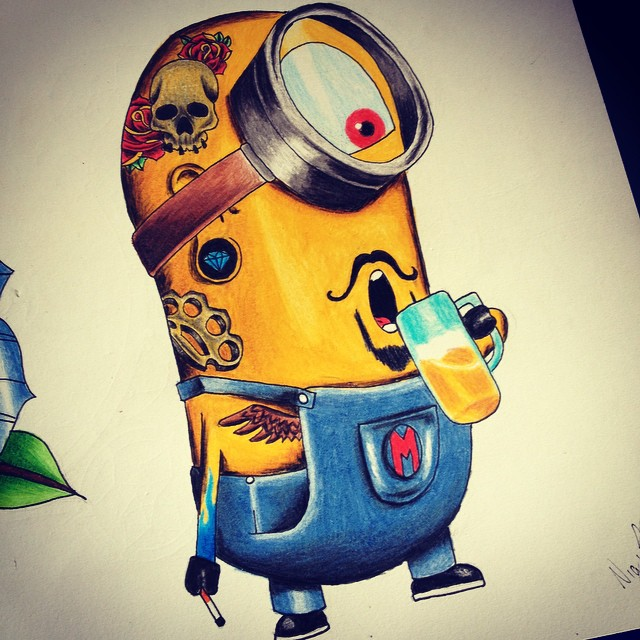 Minion tattoo by nig
