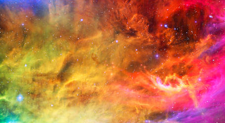 Rainbow Clouds in Space