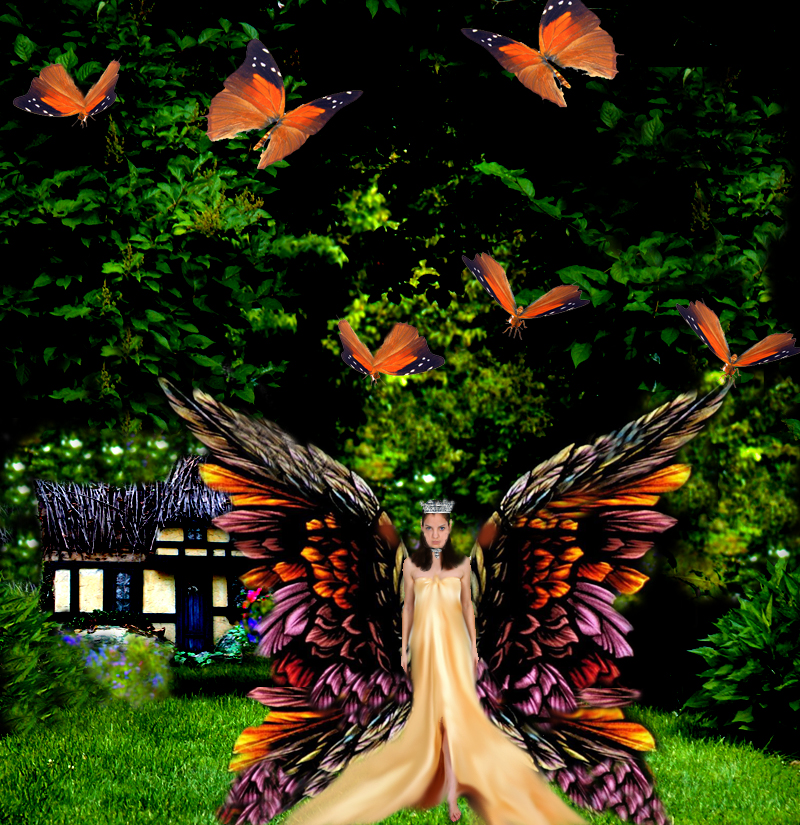 Princess Of Butterflies by LaColombeDeDeuil