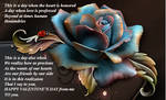 Blue Rose Valentine Sentiment by LaColombeDeDeuil