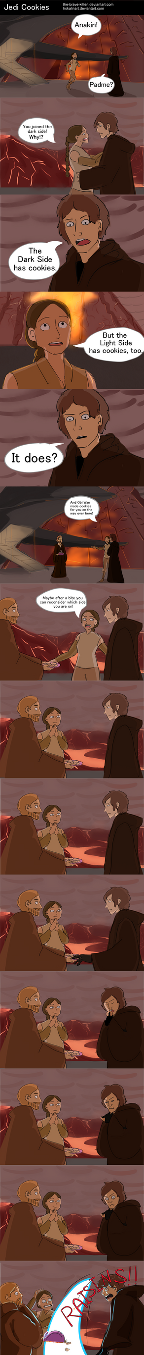 Seven Days of Star Wars: Day 7 - Jedi Cookies by The-Brave-Kitten