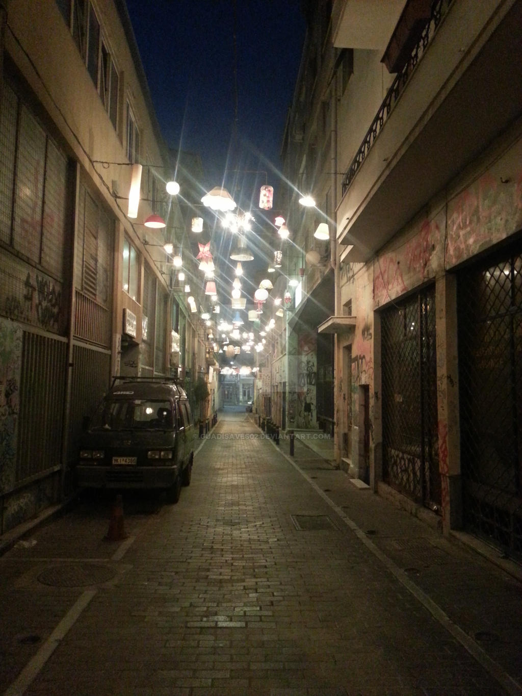 Summer 2014: Athens's alley by Guadisaves02