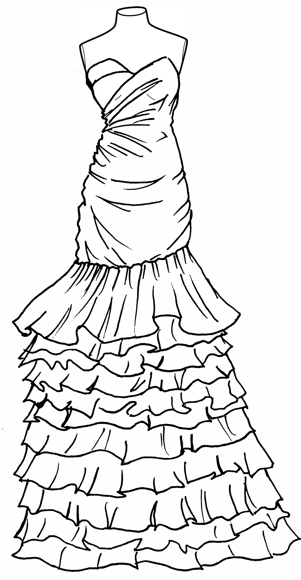 Line Drawing Dress : Prom dress lineart by thestralwizard on deviantart