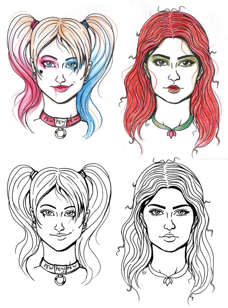 Sketchfaces: Poisonquinn by ThestralWizard