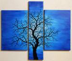 Silhouette arbre onduleux