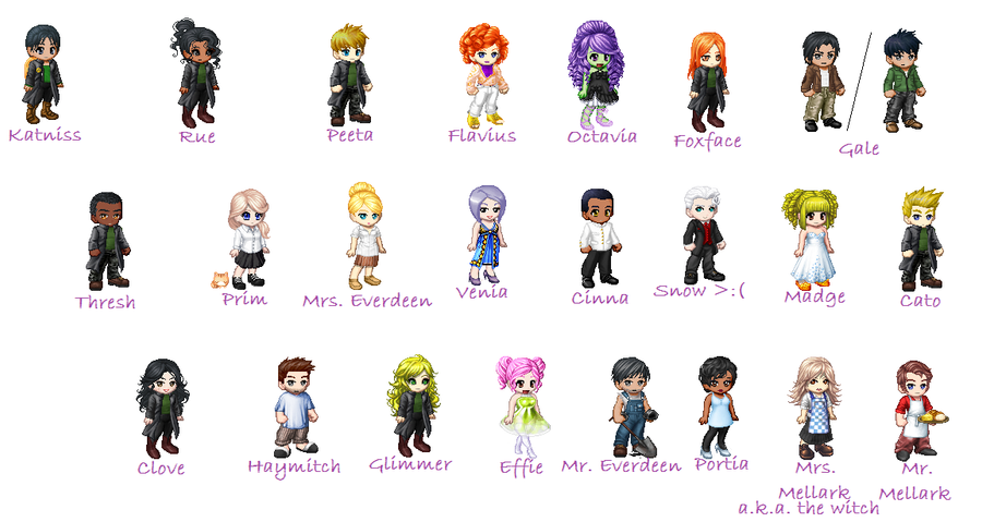 The Hunger Games Book One Characters by summer373 on ...