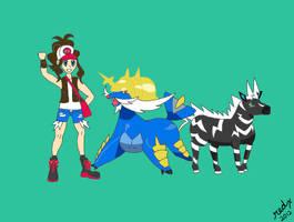 Lucahjin Pokemon White LP Artwork by redxparasite