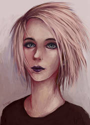 Short blonde haircut by ZCrims