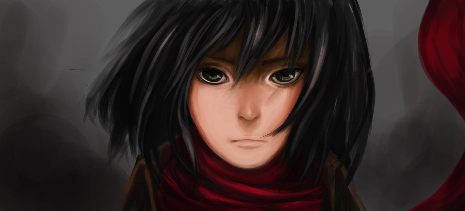 Mikasa Ackerman by kahmurio