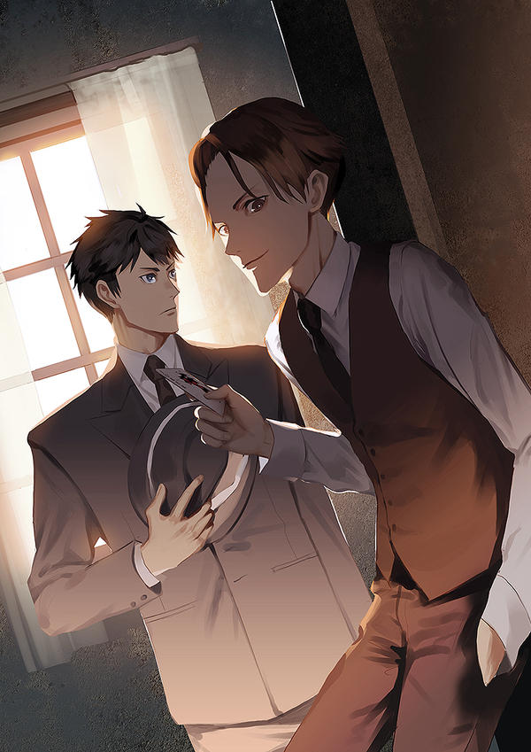 Joker Game / Sakuma and Miyoshi by kahmurio