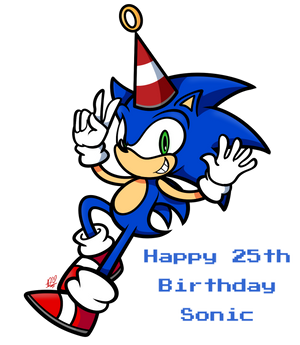 Happy 25th B-Day Sonic!