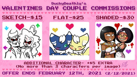 Valentine's Day Couple Commissions 2021 (closed)