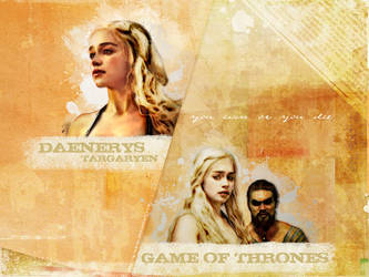 Game Of Thrones Wall01 - Dany by g-ivy-ar