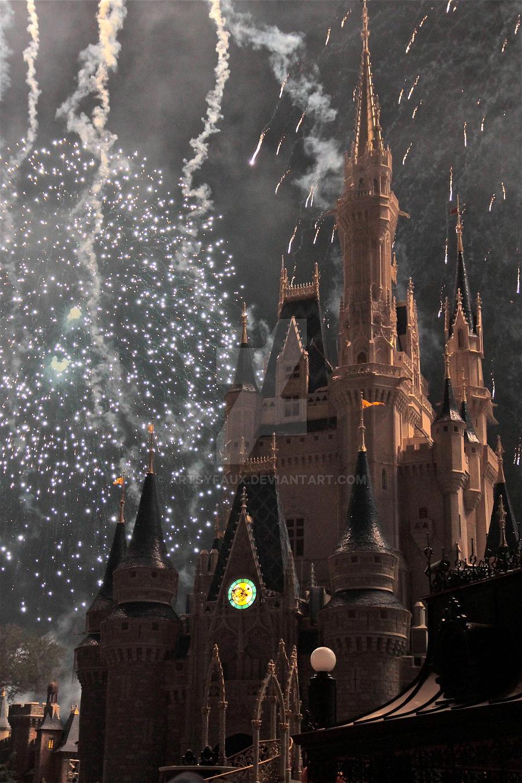 Night Castle Fireworks