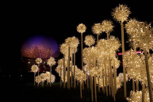 Spaceship Earth Holiday Display