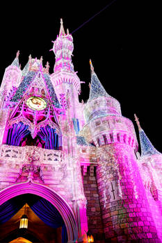 Christmas Castle in Pink
