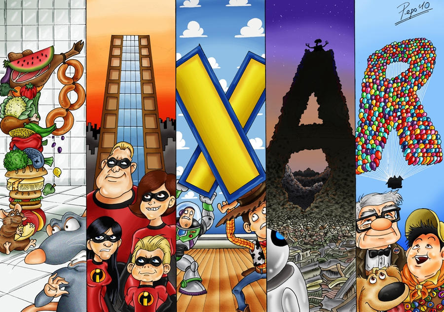 Pixar Tribute By Pepowned On Deviantart