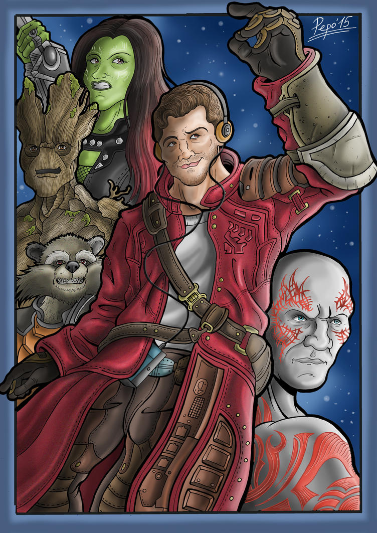 Guardians of the Galaxy by Pepowned