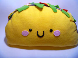 Taco Pillow by JustMadeCute