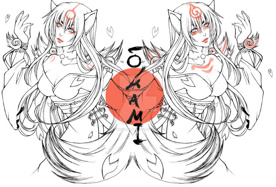 Amaterasu and Shiranui human by Rock-Monster on DeviantArt