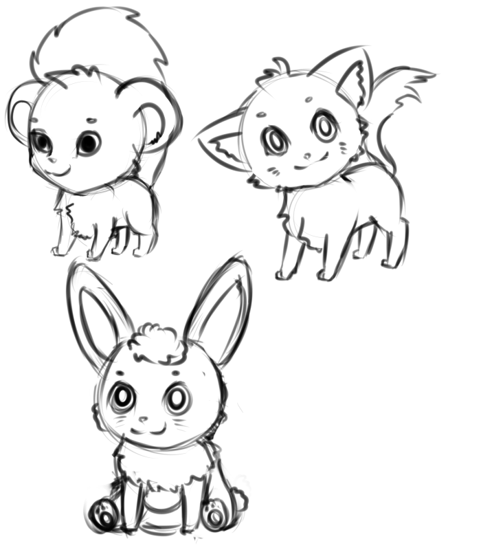 how to draw cute chibi animals