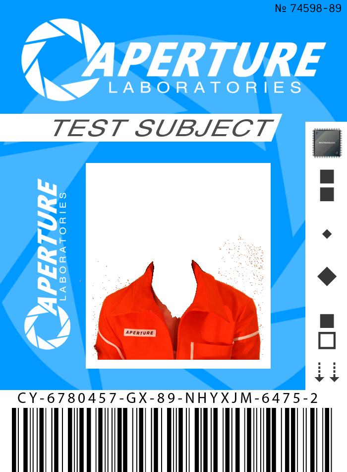 Make your own Portal ID Card by MidnightDemon on DeviantArt