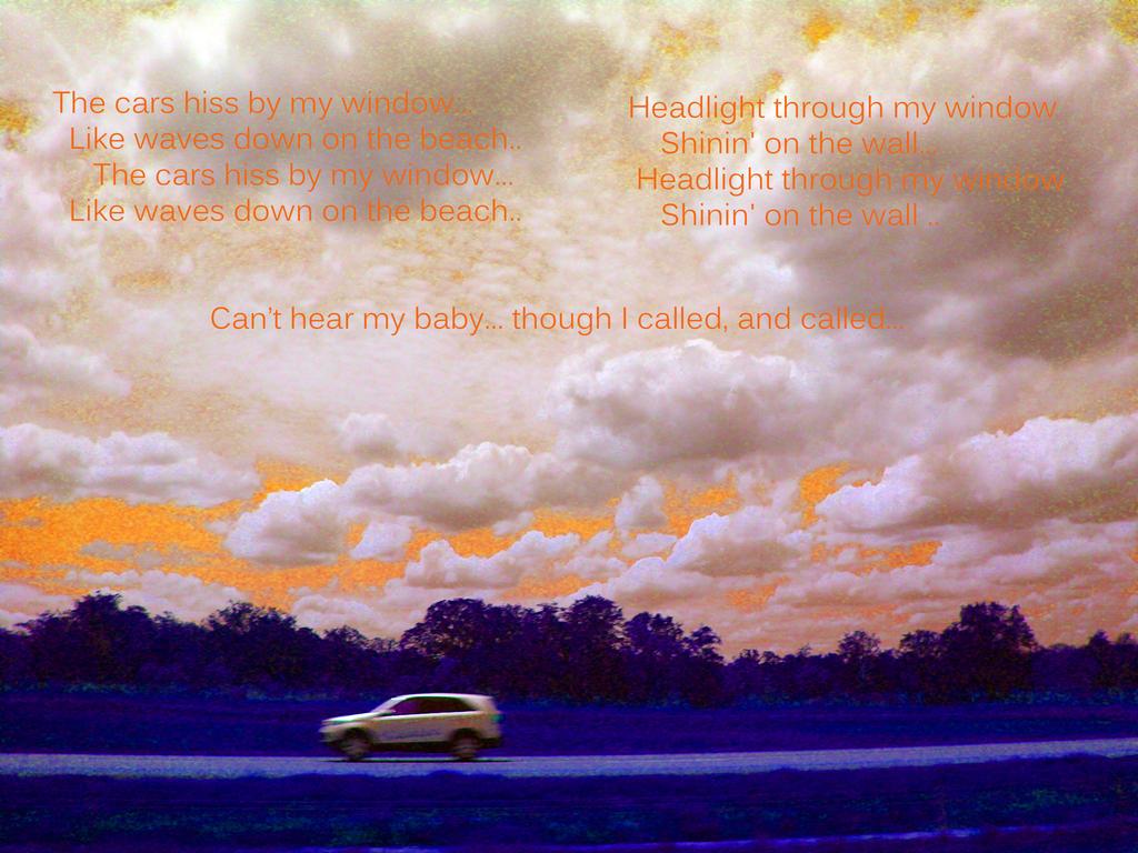 Cars hiss by my window by Neko--Chana