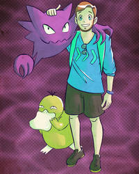 Pokemon Commission: Spencer, Haunter and Psyduck by Kanimir