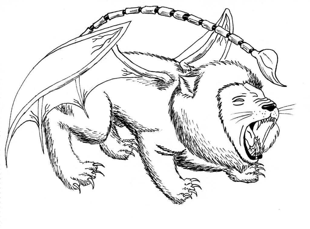 manticore drawings Gallery