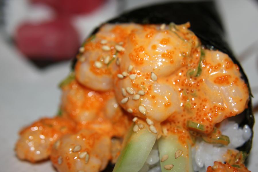 spicy tuna scallop roll spicy tuna hand roll stuffed with spicy tuna ...