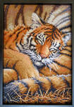 Sleeping Tiger Cross-stitch