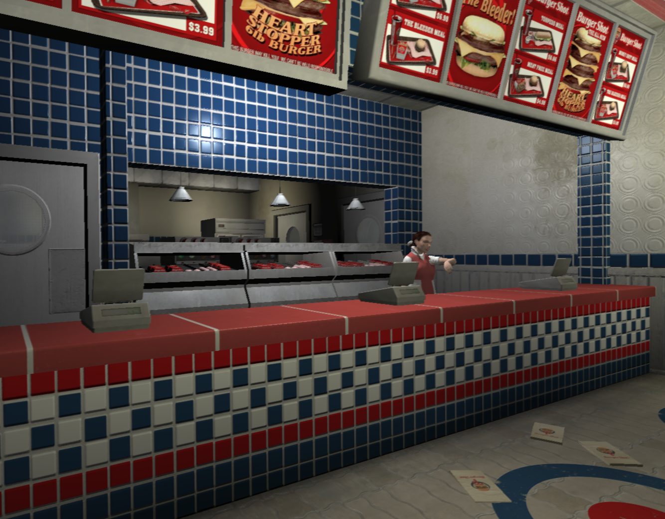 Burger Shot Interior by GTA-IVplayer