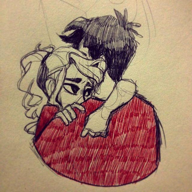 Percabeth doodle by Tamaytka