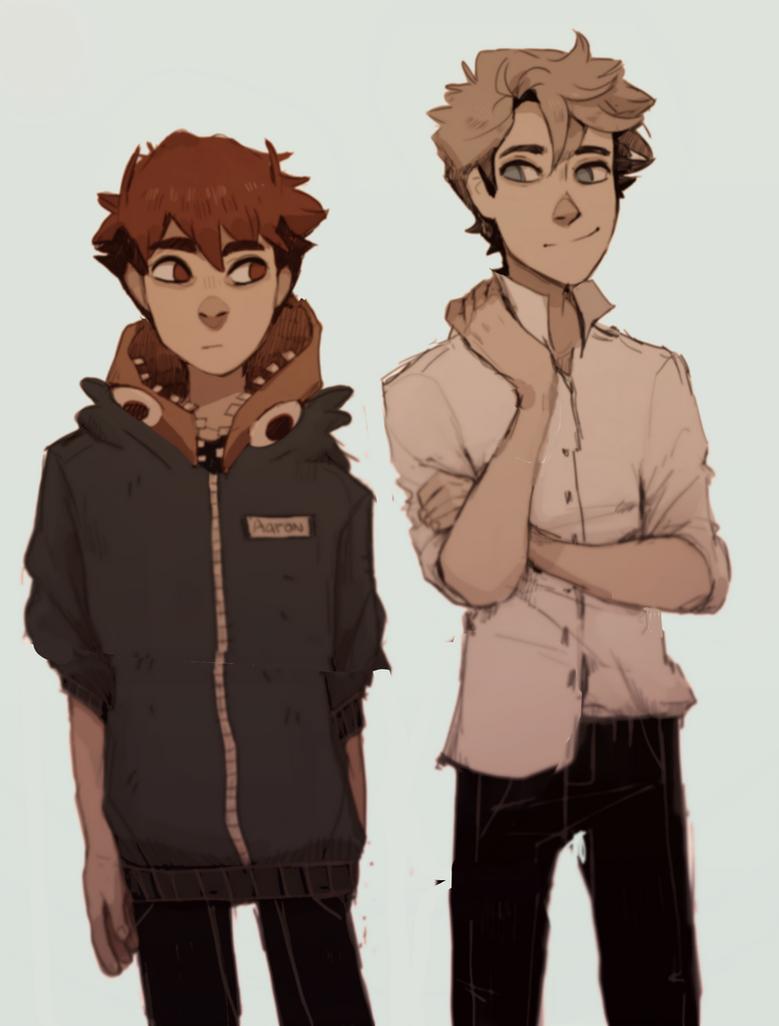 Aaron and Casper by Tamaytka