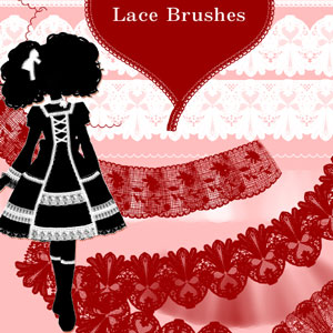 Lace Brushes by DonnaCuzzard