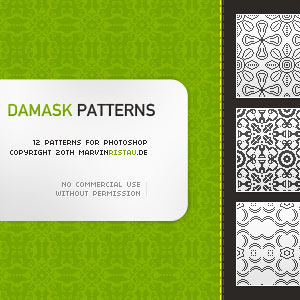 Damask Patterns by DonnaCuzzard