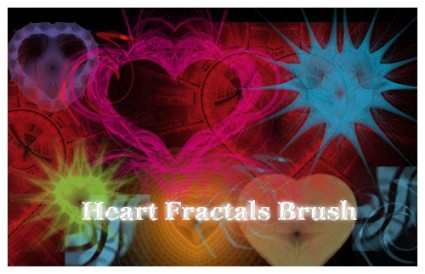 Fractal Heart Brushes for Photoshop by DonnaCuzzard