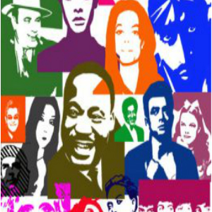 Iconic People Pop Art Brushes by DonnaCuzzard