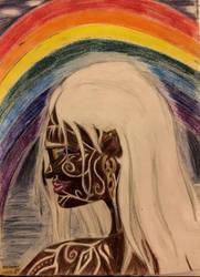 Goddess Iris of the Rainbow by AngelTrueSpirit
