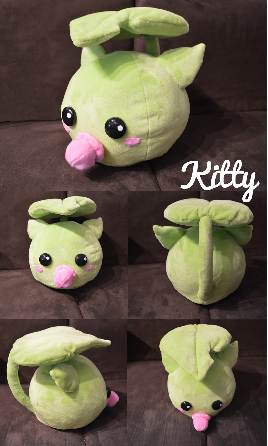 Leafmon plush - Digimon by Kitty-0f-D00m