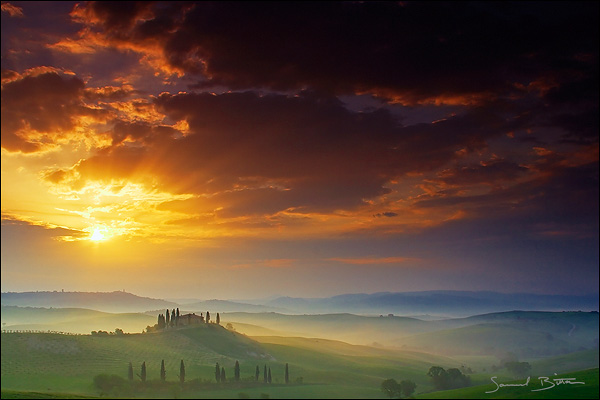 Tuscan sunrise by samuelbitton on deviantart for Les plus beaux rideaux du monde