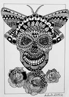 Skull zentangle by Anbeads