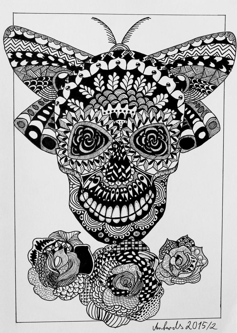 Skull Zentangle By Anbeads On DeviantArt