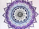 Purple-blue mandala