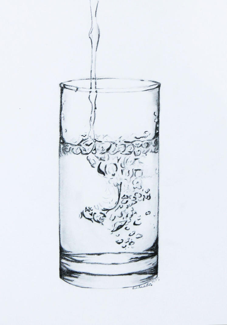 Glass of water by Anbeads
