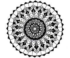 Black ink mandala