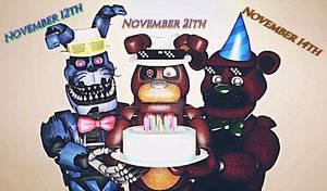 [SFM /FNAF/OC] all birthdays to November day