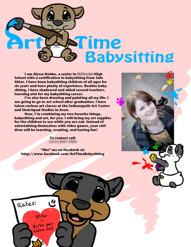 things to put on a babysitting flyer