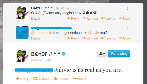 'Jahvie is as real as you are.' by crimsonfirefox